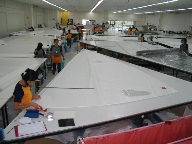The Hyde Sails Cebu loft dinghy section