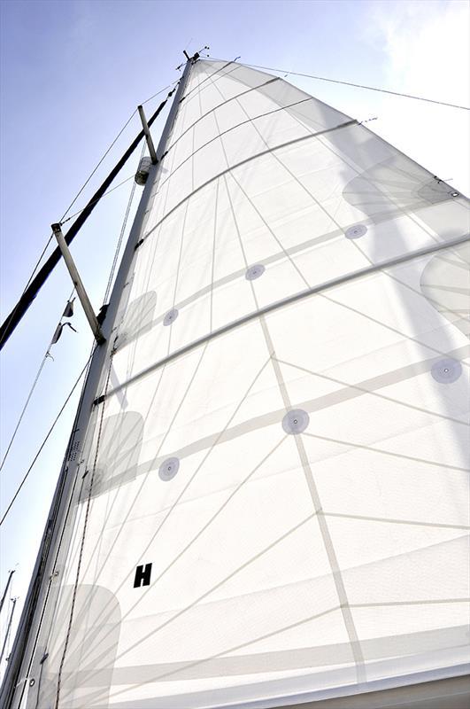 The fully battened mainsail on Tim Sandall's Bavaria 36 'Tortola' - photo © Tim Sandall