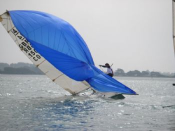 Action from the International 14 Armband Cup in Chichester Harbour