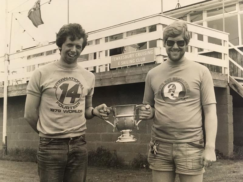 David & Simon with the Prince of Wales Cup at Tewkesbury - photo © Chandler archive