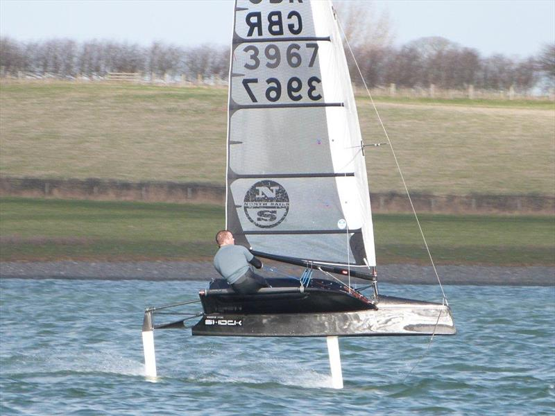 Chris Draper (International Moth) during the John Merricks Tiger Trophy at Rutland Water - photo © Alan Gillard