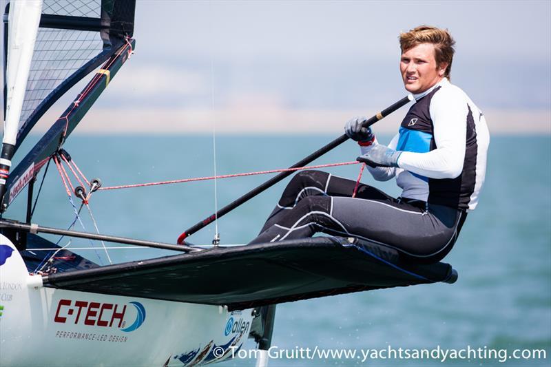 Chris Rashley on day 6 of the International Moth World Championships - photo © Tom Gruitt / YachtsandYachting.com