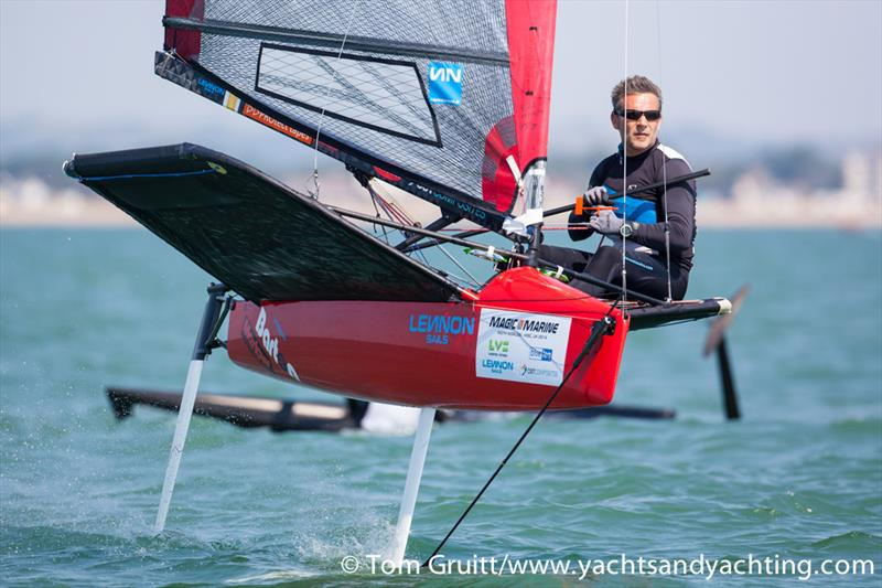 Mike Lennon on day 6 of the International Moth World Championships - photo © Tom Gruitt / YachtsandYachting.com