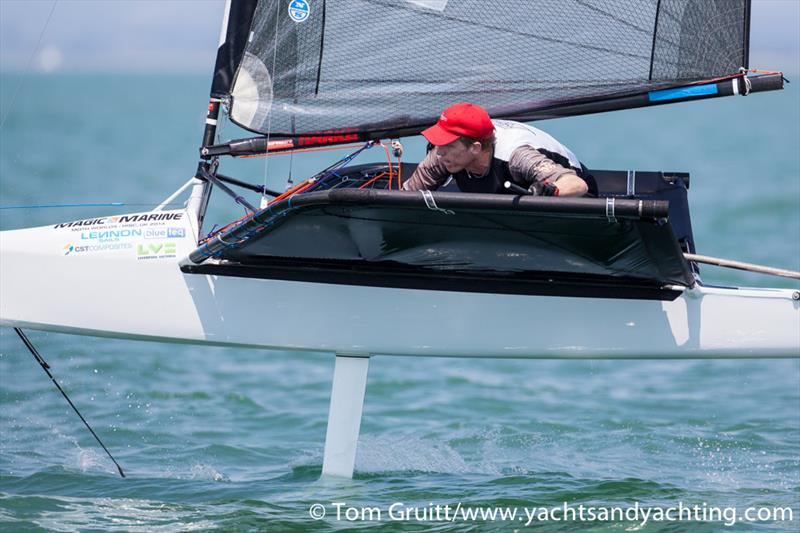 Glen Read on day 6 of the International Moth World Championships - photo © Tom Gruitt / YachtsandYachting.com
