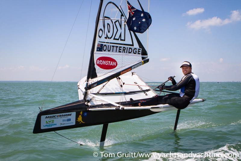 Nathan Outteridge: 2014 International Moth World Champion - photo © Tom Gruitt / YachtsandYachting.com