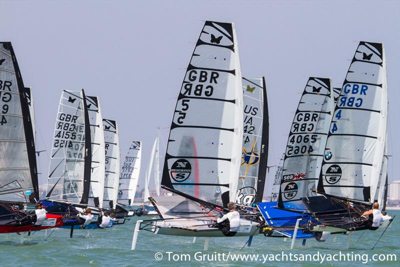 Robert Greenhalgh on the final day of International Moth World Championships - photo © Tom Gruitt / YachtsandYachting.com