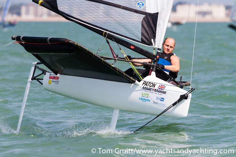 Ben Paton on the final day of International Moth World Championships - photo © Tom Gruitt / YachtsandYachting.com