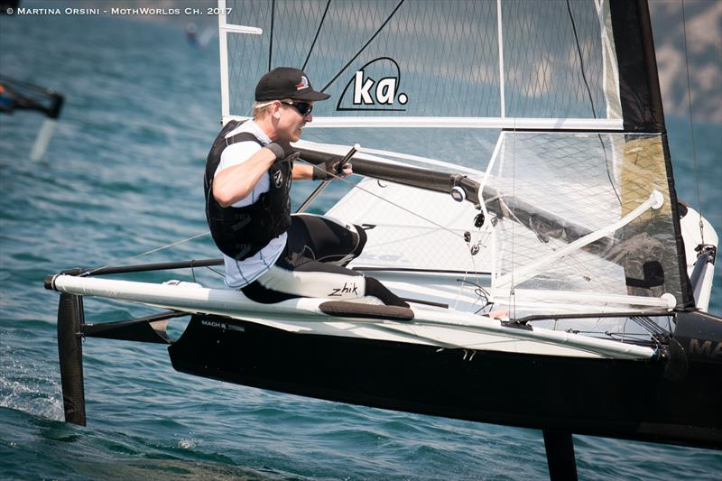 Pete Burling warms up for the Worlds on Lake Garda - photo © Martina Orsini