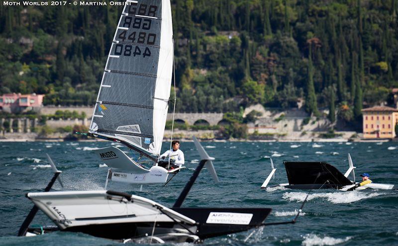Day 3 of the Moth Worlds on Lake Garda - photo © Martina Orsini