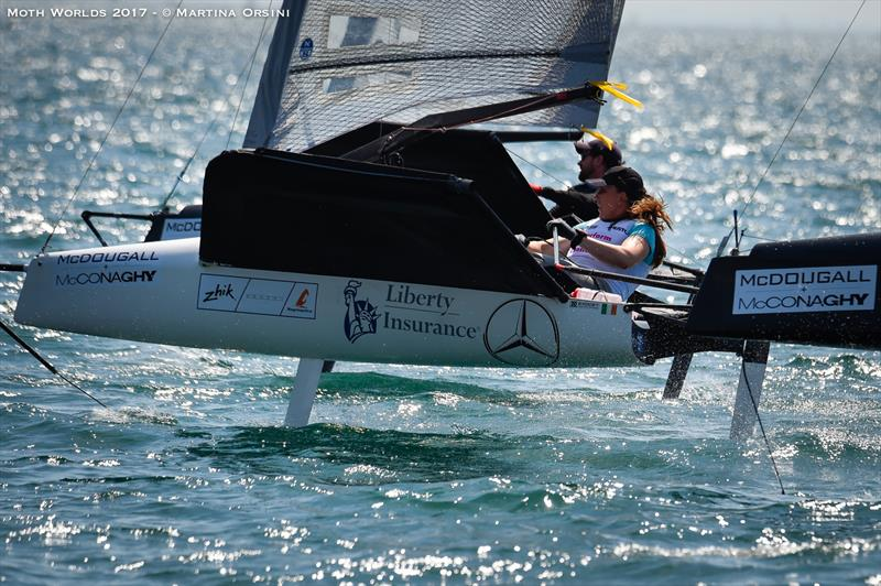 Day 4 of the Moth Worlds on Lake Garda - photo © Martina Orsini