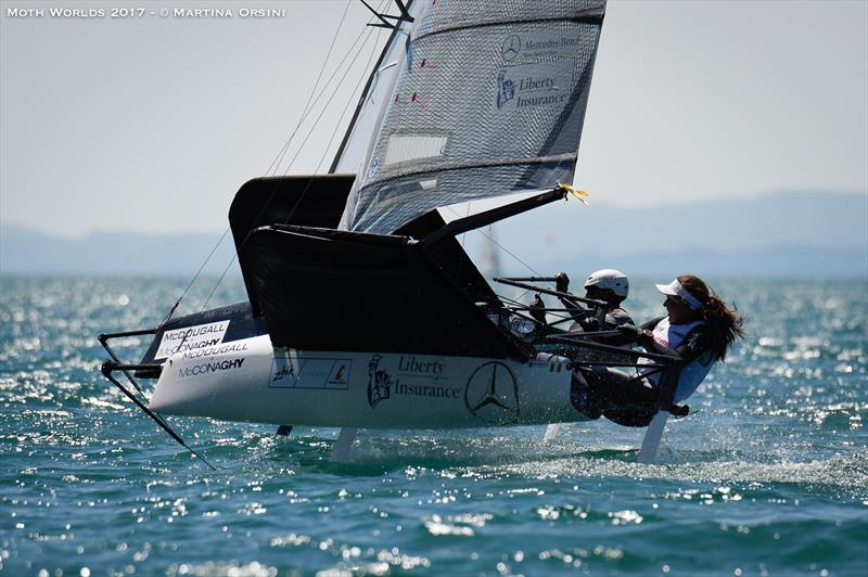 Day 6 of the Moth Worlds on Lake Garda - photo © Martina Orsini