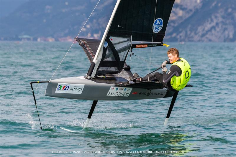 Tom Slingsby on day 3 of the International Moth Worlds 2021 - photo © Angela Trawoeger