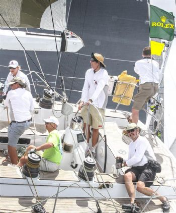 Brian Thompson on Safara on day 2 of the International Rolex Regatta