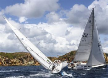 Chauntecler and Wild T'ing  on day 2 of the International Rolex Regatta