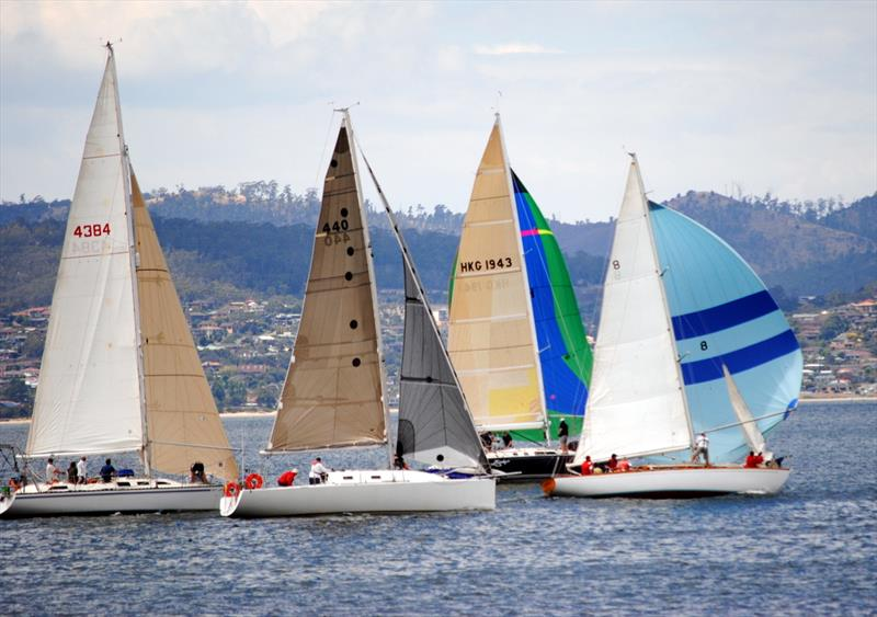 ... yesterday's race on Hobart's River Derwent - photo © Peter Campbell