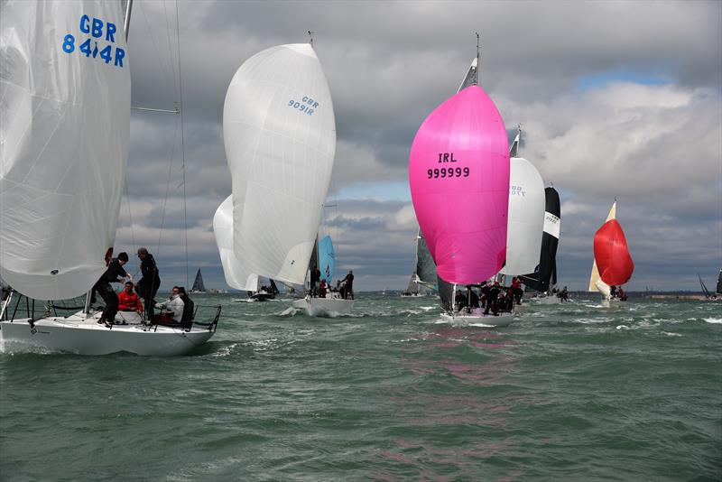 Downwind on weekend 1 of the Crewsaver Warsash Spring Championship - photo © Sam Penahaul
