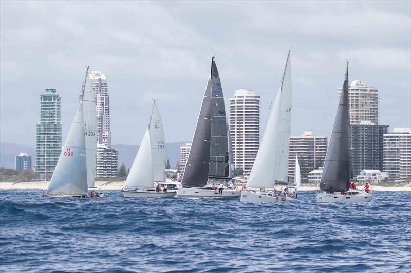 Performance Racing Division 1 on the start line on day two at SYC's Bartercard Sail Paradise Regatta - photo © SYC