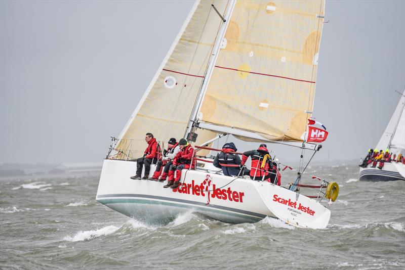 Scarlet Jester in IRC3 on day 2 of the Helly Hansen Warsash Spring Series - photo © Andrew Adams / www.closehauledphotography.com
