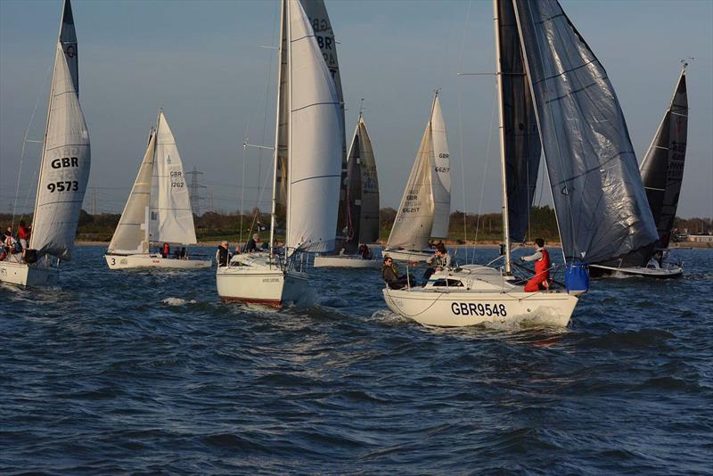 Class 2 prestart on day 3 of the Hamble River Early Bird Series  - photo © Trevor Pountain