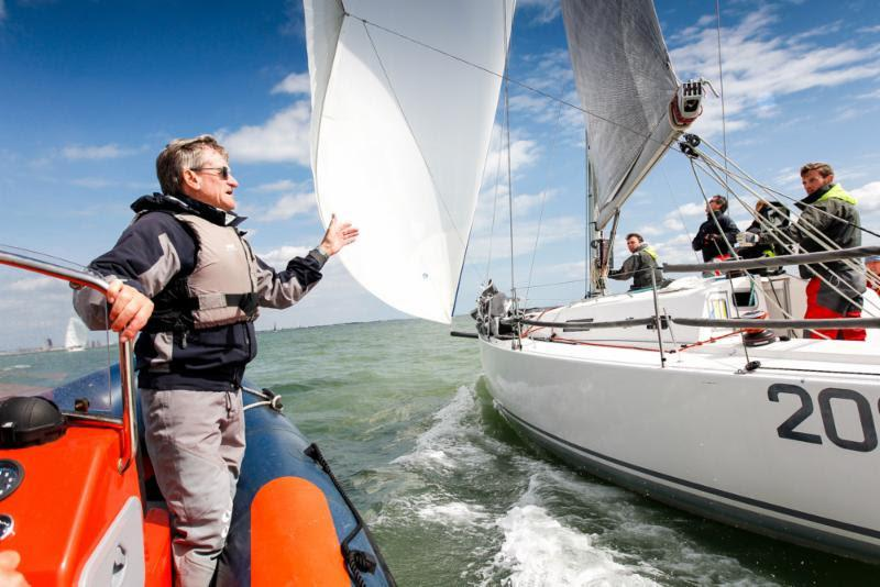Jim Saltonstall offers his expert advice at the RORC Easter Challenge - photo © Paul Wyeth / www.pwpictures.com