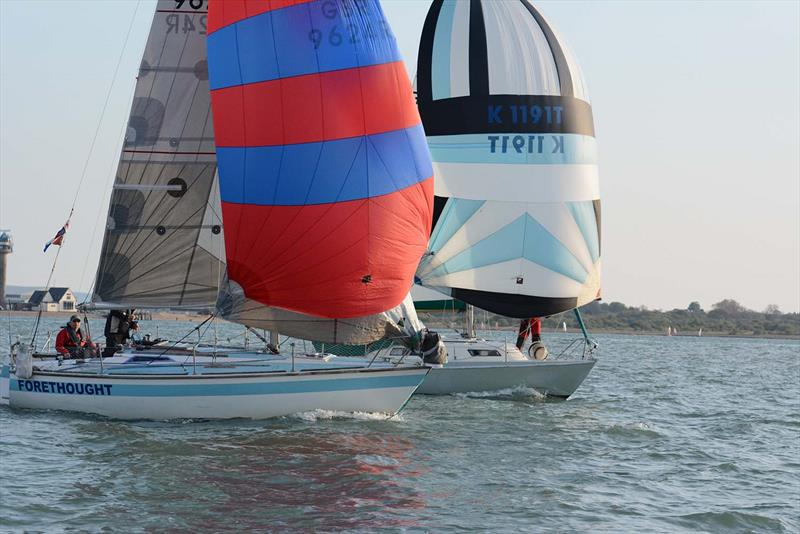 Forethough of Gosport & Starfall on day 4 of the Hamble River Early Bird Series - photo © Trevor Pountain