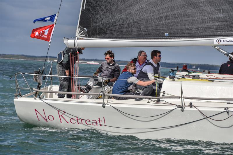 No Retreat! on the final weekend of the Crewsaver Warsash Spring Championship - photo © Andrew Adams / www.closehauledphotography.com