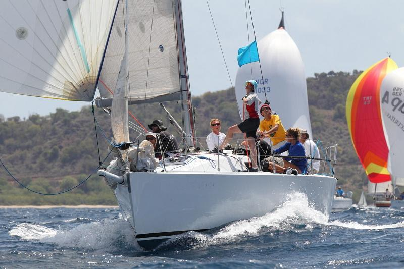 Pocket Rocket competing in the 2014 Antigua Sailing Week - photo © Tim Wright / www.photoaction.com