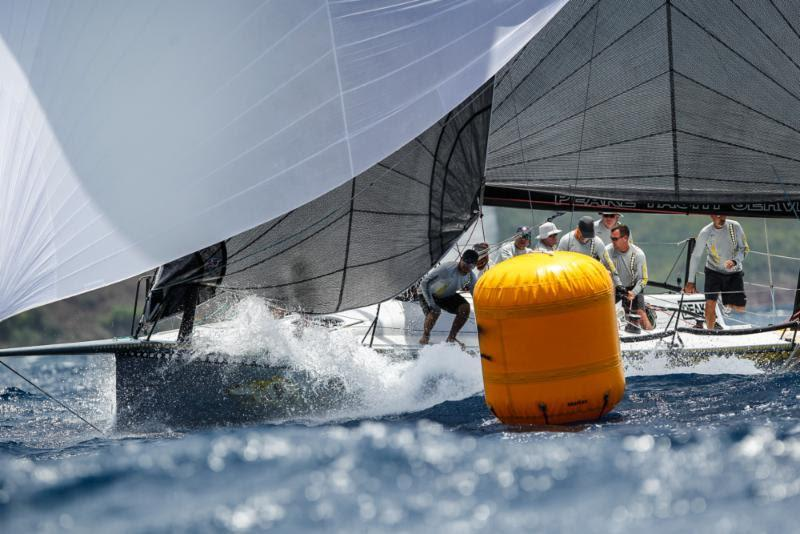 Mark Chapman's Trinnie team racing Ker 11.3, Dingo on Fever-Tree Race Day 2 at Antigua Sailing Week - photo © Paul Wyeth / www.pwpictures.com