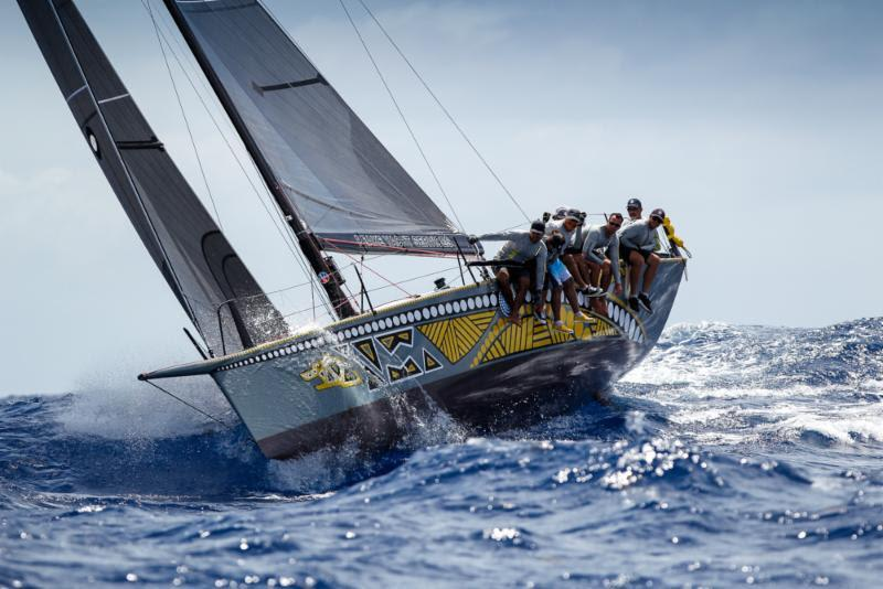 A close win in CSA 4 for Mark Chapman's Trini Ker 11.3, Dingo on Johnnie Walker Race Day 3 at Antigua Sailing Week - photo © Paul Wyeth / www.pwpictures.com