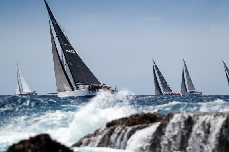 Bernie Evan Wong's TAZ racing off Windward Beach on Johnnie Walker Race Day 3 at Antigua Sailing Week - photo © Paul Wyeth / www.pwpictures.com