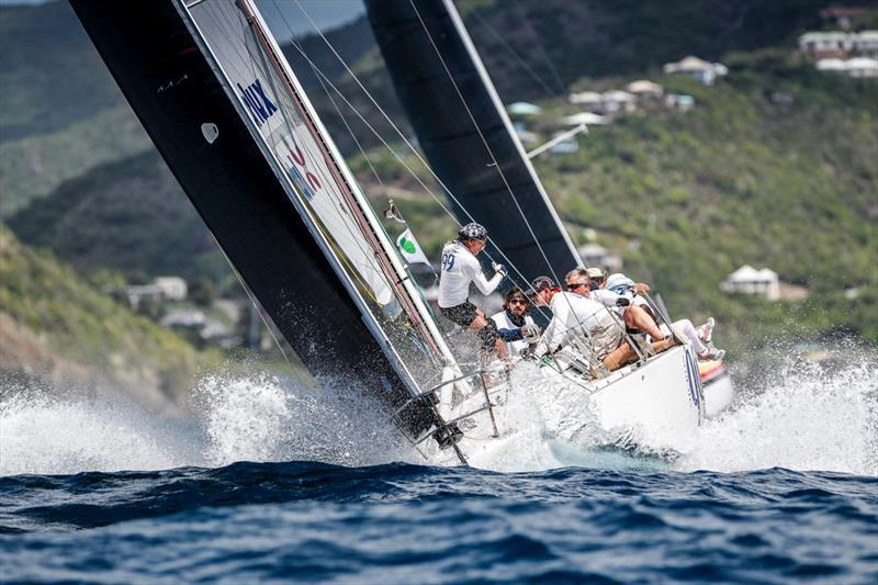 Cary Byerley and Robbie Ferron's Micron 99, Lord Jim on Race Day 4 at Antigua Sailing Week - photo © Paul Wyeth / www.pwpictures.com
