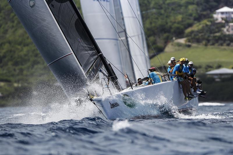 Clint Brooks' Bajan TP52 Conviction win CSA 3 overall at the 50th Antigua Sailing Week - photo © Paul Wyeth / www.pwpictures.com