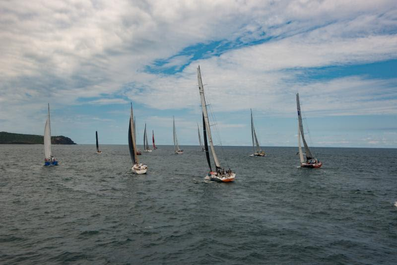 A diverse fleet sets off for Bermuda in the inaugural Antigua Bermuda Race - photo © Ted Martin