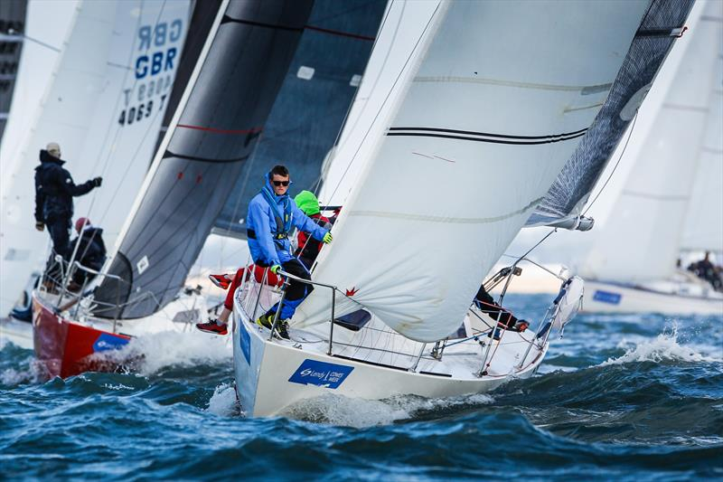 GR8 Banter finishing 6th in IRC 6 Class on day 3 of Lendy Cowes Week 2017 - photo © Paul Wyeth / CWL
