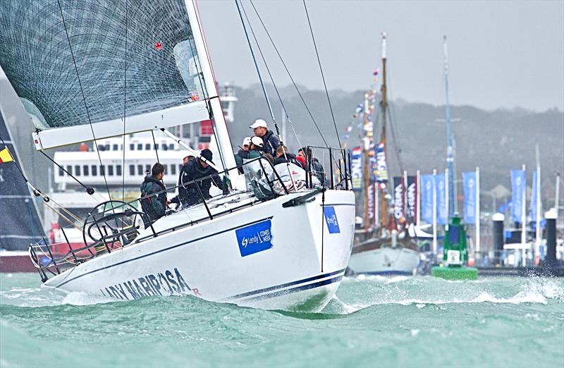 Lady Mariposa on a very windy day 6 at Lendy Cowes Week 2017 - photo © Tom Hicks / www.solentaction.com