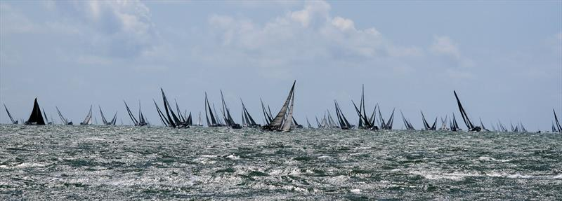A stunning sight after the Rolex Fastnet Race start - photo © Mark Jardine / YachtsandYachting.com