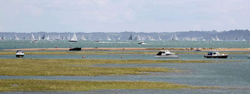 Fleet in the Solent after the Rolex Fastnet Race start - photo © Mark Jardine / YachtsandYachting.com