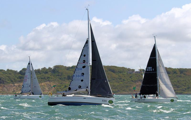Heavily reefed after the Rolex Fastnet Race start - photo © Mark Jardine / YachtsandYachting.com