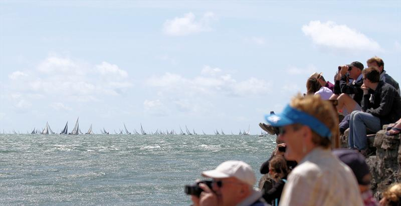 Plenty of binoculars and cameras on the fleet after the Rolex Fastnet Race start - photo © Mark Jardine / YachtsandYachting.com