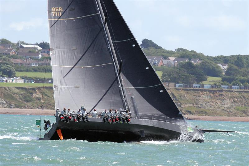 Quite a bowsprit on GER 7111 after the Rolex Fastnet Race start - photo © Mark Jardine / YachtsandYachting.com