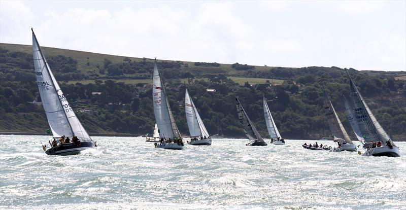 Sparkling Solent after the Rolex Fastnet Race start - photo © Mark Jardine / YachtsandYachting.com