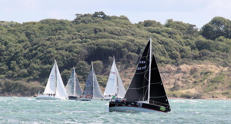 Through Hurst Narrows after the Rolex Fastnet Race start - photo © Mark Jardine / YachtsandYachting.com