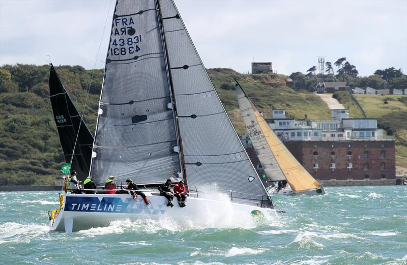 Timeline passing Fort Albert after the Rolex Fastnet Race start - photo © Mark Jardine / YachtsandYachting.com