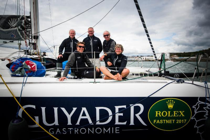 Ts42, Guyader Gastronomie Gery Trentesaux, Gwenael Chapalain, Xavier Dhennin, Denis Frederic and Christian Guyader in the Rolex Fastnet Race - photo © ELWJ Photography / RORC