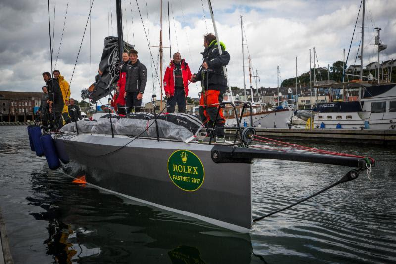 Docking at Plymouth Yacht Haven, Quentin Stewart's Infiniti 46, Maverick in the Rolex Fastnet Race - photo © ELWJ Photography / RORC