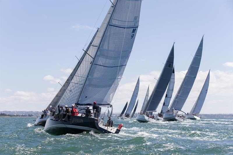 Coming to the finish line of the Melbourne to Geelong Passage Race - photo © Steb Fisher