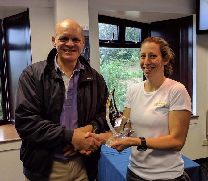 Phil Hagen presents Nifty's Emily Bowden-Eyre with the IRC One Trophy for the IRC Spinlock Autumn Championship - photo © Hamble Winter Series
