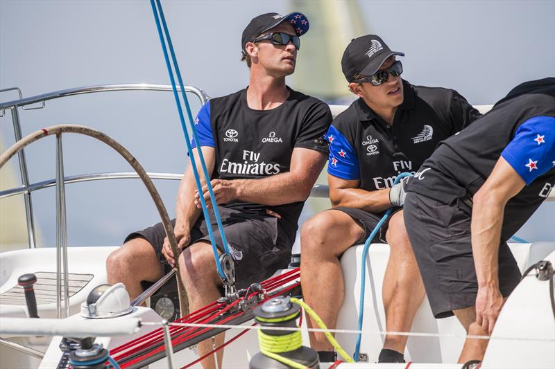 Josh Junior at the helm of Yiihua Pocket Emirates Team New Zealand on day 2 of the 11th China Cup International Regatta - photo © China Cup / Studio Borlenghi
