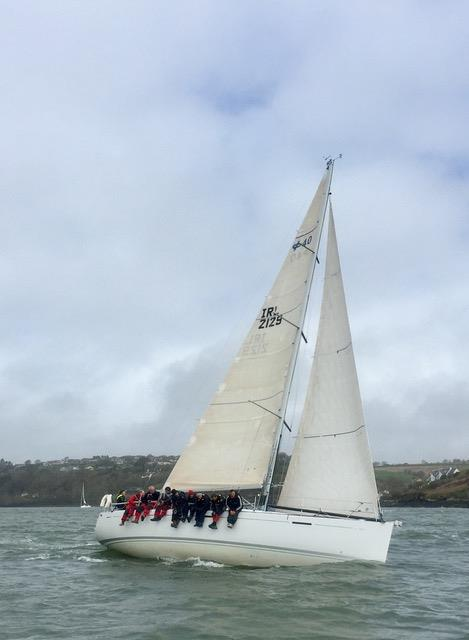 Nieulargo (IRL 2129) on day 2 of the Matthewws Helly Hansen Kinsale Yacht Club Spring Series photo copyright Dave Sull taken at Kinsale Yacht Club and featuring the IRC class