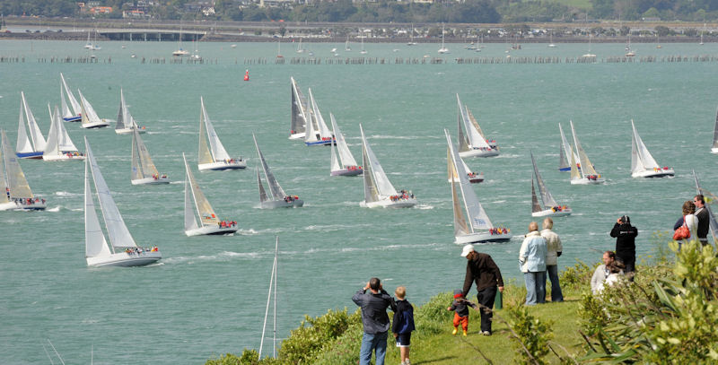 The sight of 200 yachts taking part in a mass start off Devonport Wharf is expected to provide a great spectacle for international visitors to Auckland for Rugby World Cup Final weekend